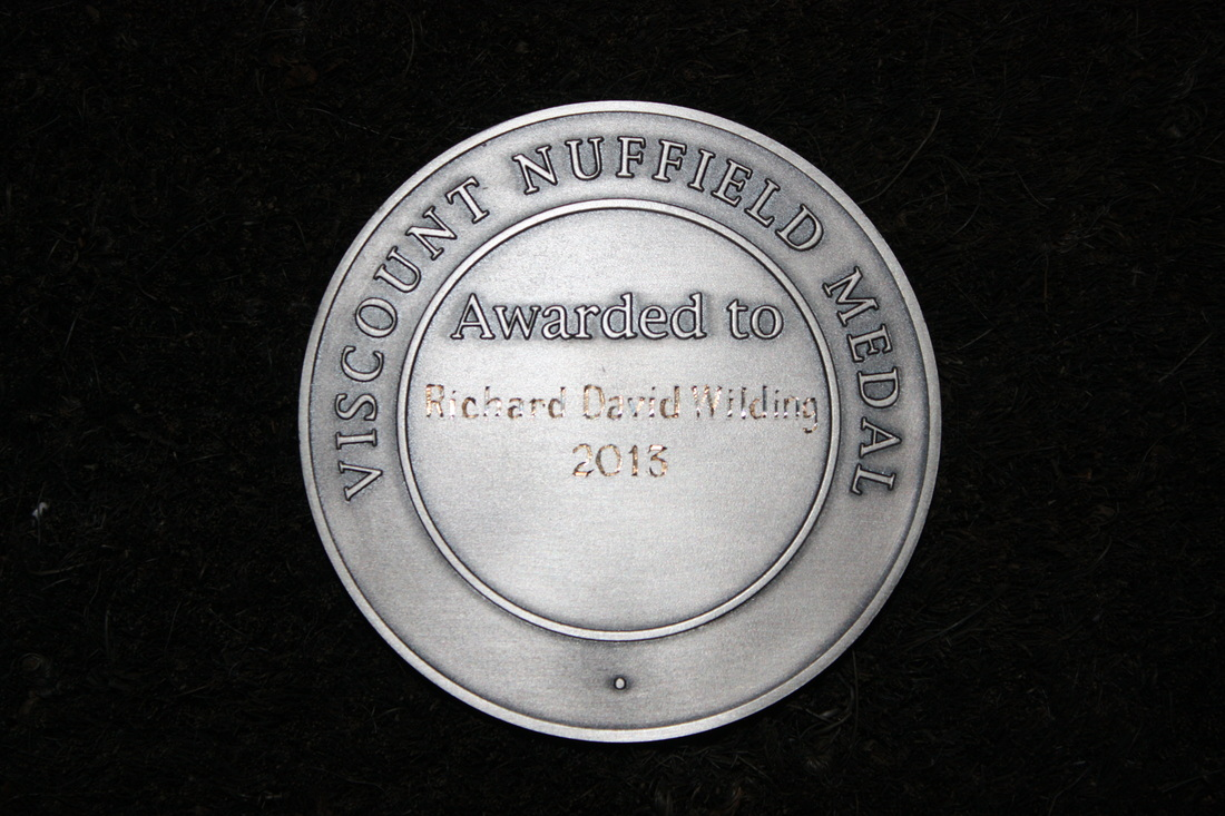 Viscount Nuffield Silver Medal - Reverse