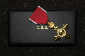 OBE medal and Box