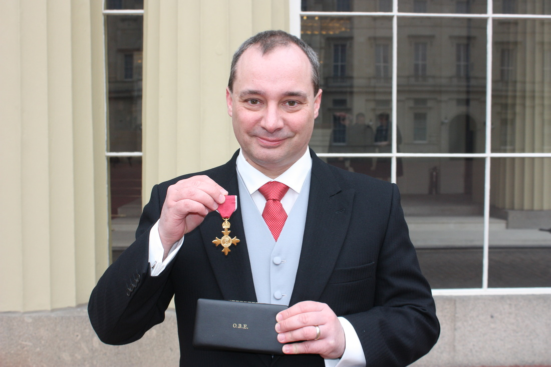 Prof Wilding with OBE honour